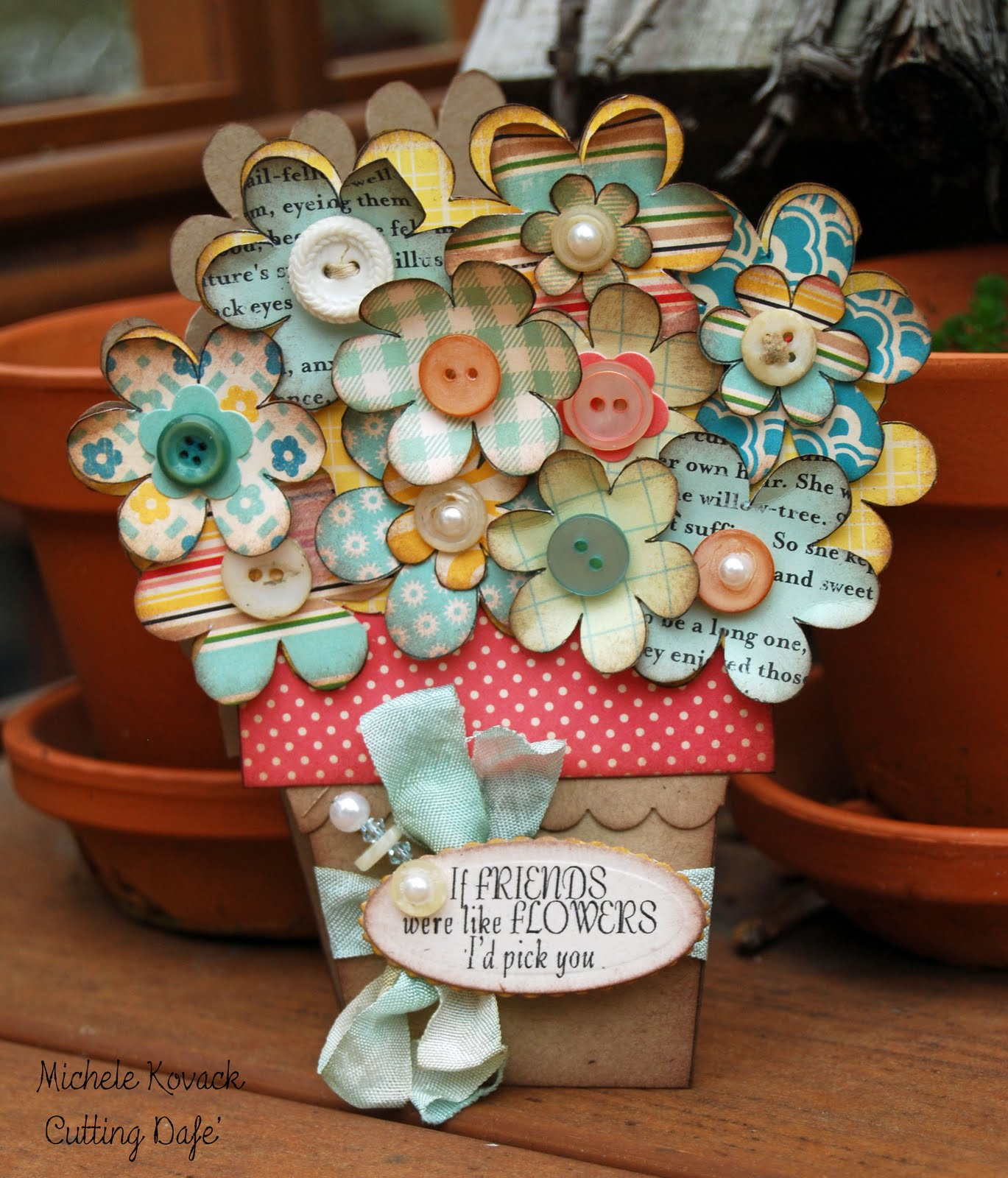 Thoughts Of A Cardmaking Scrapbooker Cutting Cafes Flower Pot