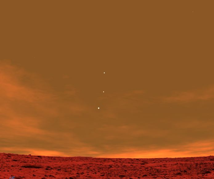 Earth photo from Mars