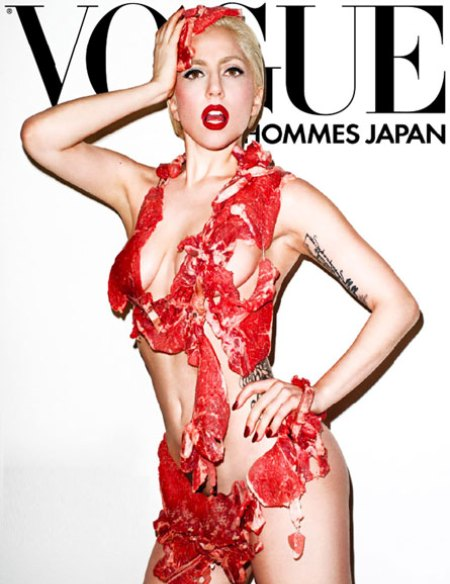 lady gaga meat dress real. Lady+gaga+meat+dress+real+