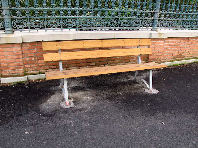 Bench outside the Accademia Navale, Naval Academy, Livorno