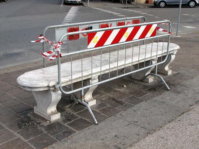 Closed bench, Piazza della Repubblica, Livorno