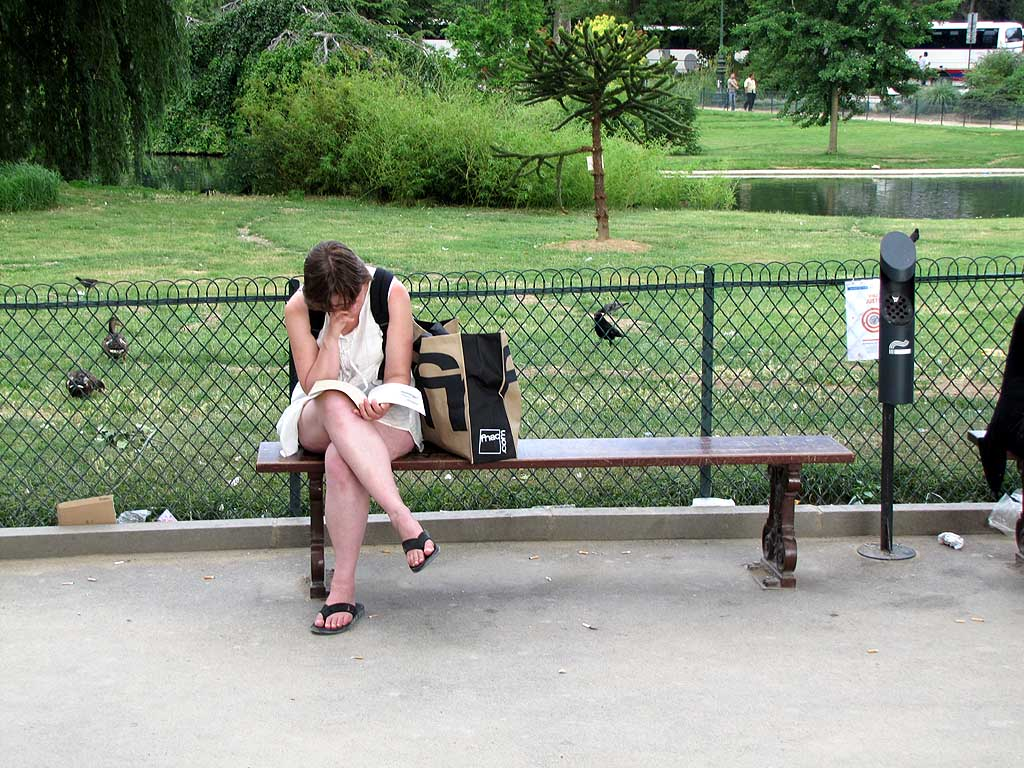 Bench under the Eiffel Tower