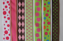 Wide Bow Patterns: Pinks and Greens