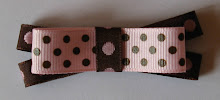 Pink and Brown Double Layer Bow