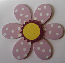 Flower- Purple with White Dots Bow Holder