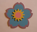 Purple/Blue Flower with Sun Bow Holder