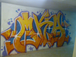 M.K.A graffiti