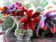 A lot of felted flowers
