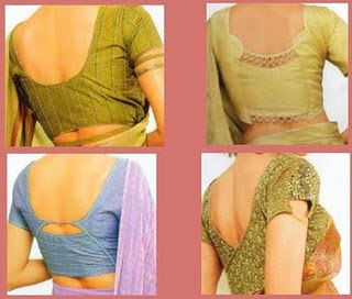 Saree Blouse Back Neck Designs ~ Celebrity Sarees