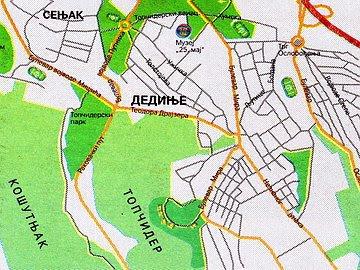 Beogradska brda Dedinje,+mapa+lokacije