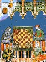Cuatro contendientes jugando a la chaturanga en ajedrez