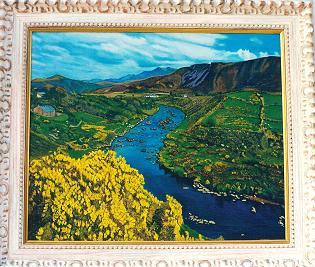Cuadro al óleo de Pilar Ochoa titulado: Condado de Kerry