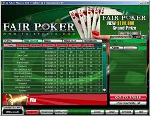 Apuestas y juego en Fair Poker - Jugar y apostar al póquer