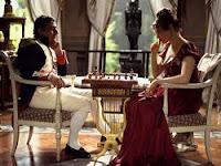 Napoleón jugando al ajedrez con madame de Remusat