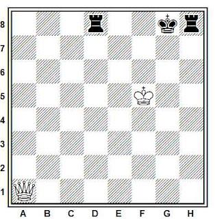 Problema de ajedrez número 433: Estudio de H. Rinck (1916)