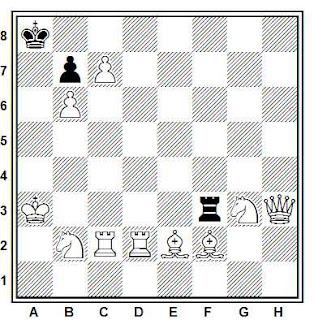Problema de ajedrez 437: Estudio de Otto Gallischek - Un cohete espacial va a Marte