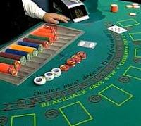 Mesa de blackjack en un casino