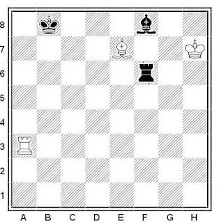 Problema ejercicio de ajedrez número 483: Estudio de Matoush (1981)