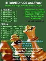 Cartel del III Torneo de Ajedrez Los Galayos