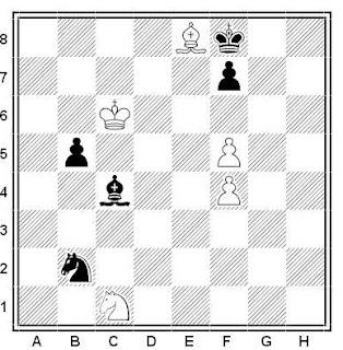 Problema ejercicio de ajedrez número 529: Estudio de G. M. Kasparian (1949)