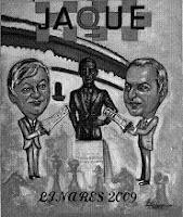 Cartel del II Premio Nacional Chessy a la Promoción del Ajedrez por el pintor leonés Luis Zotes