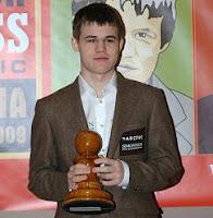 Magnus Carlsen número uno de la clasificación mundial de ajedrez en enero 2010