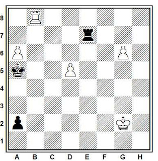 Problema ejercicio de ajedrez número 654: Estudio de V. A. Chejover (1949)