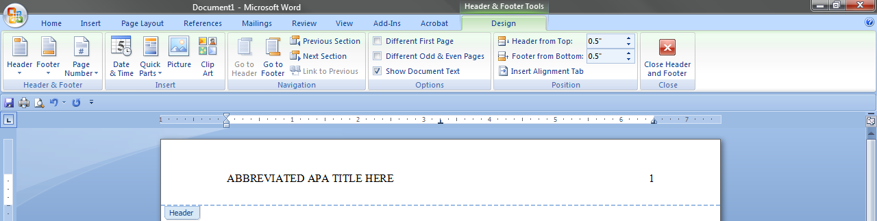 insert abbreviated title Press enter to add a blank line after your text concludes click on the insert index item in the reference tab's index section to open the index dialog box click on the ok button without changing the default index settings.