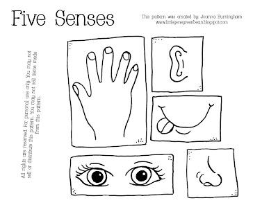 Number Names Worksheets » Five Senses Coloring Sheets - Free ...