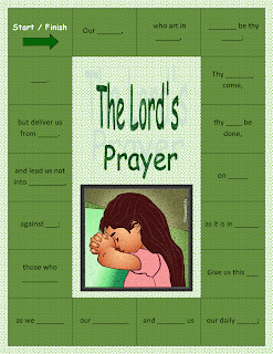 the lords prayer file folder game a fun way to practice and see how well you know the lords prayer catholic version of debbies ffg - Father Coloring Page Catholic