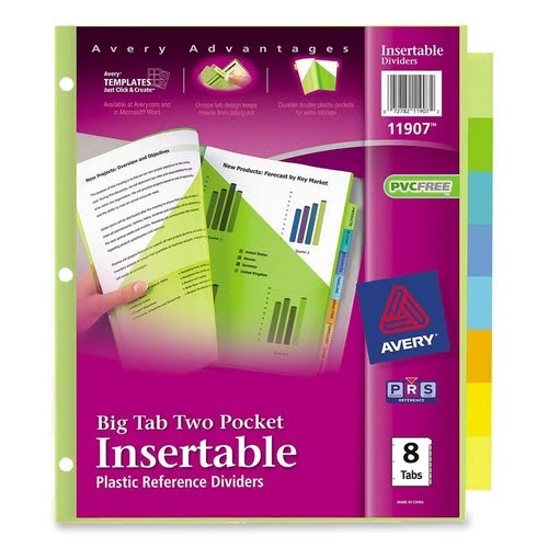 Top Result 60 Beautiful 8 Large Tab Insertable Dividers Template