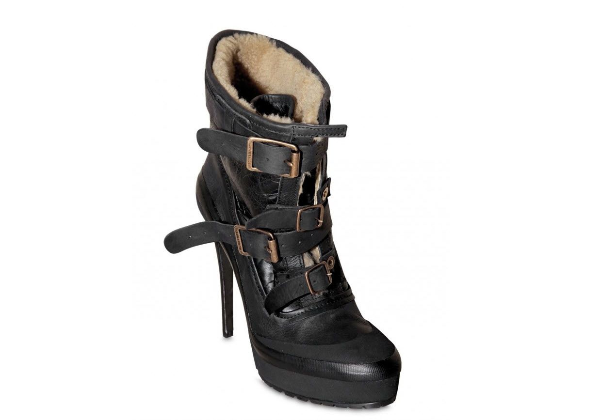 Burberry Prorsum Shearling Low Boots are available at LUISAVIAROMA.