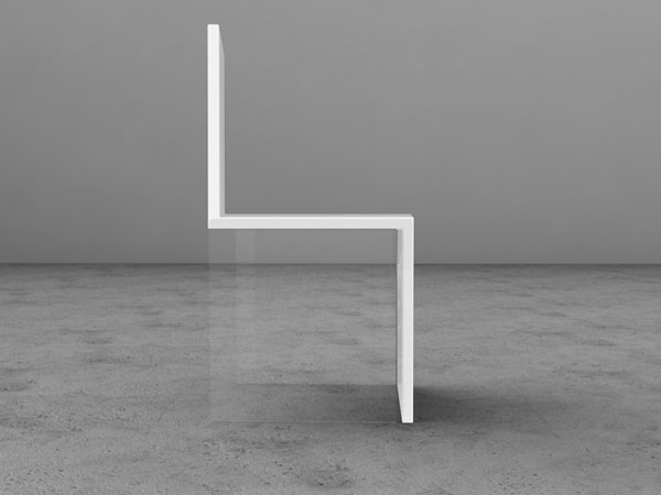 Italian designer Davide Conti using a transparent material to maintain ...