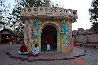 Chokhi Dhaani in Jaipur - A temple at the entrance of the village