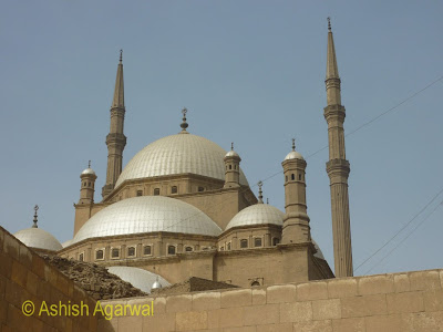 Saladin Citadel in Cairo - Closer view of the domes