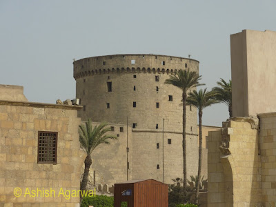 Saladin Citadel in Cairo - view of defensive tower in the structure