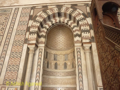 Saladin Citadel in Cairo - enclosure with carvings in the Nasir mosque