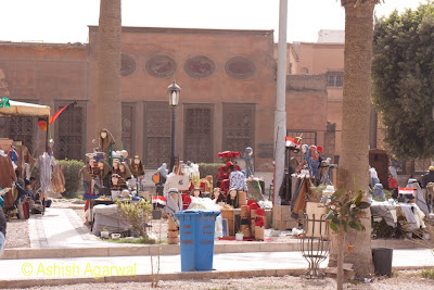 Saladin Citadel in Cairo - the open space behind the Mohammed Ali Mosque, also a mini shopping area