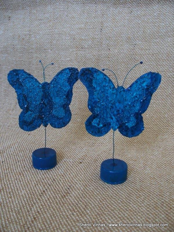 Esculturas com material reciclado para brindes, lembrancinhas e