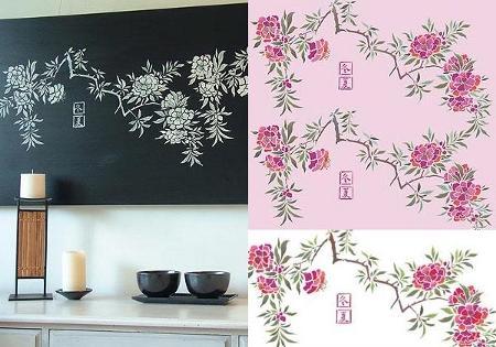 Estarcido o stencil pintando con plantillas - Plantillas infantiles para pintar paredes ...