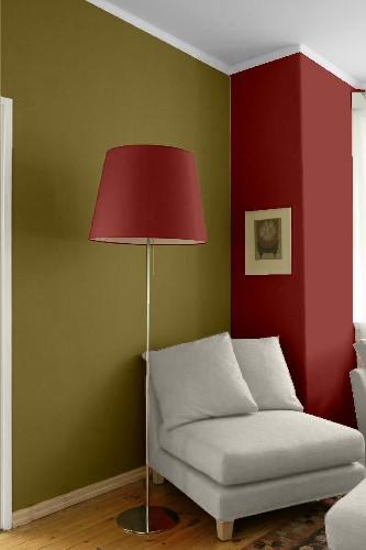 Combinar el rojo con verde for Combinar colores en paredes