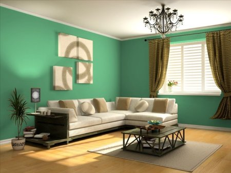 Verdes c lidos medios y fr os para tus interiores for Pintura verde aguamarina