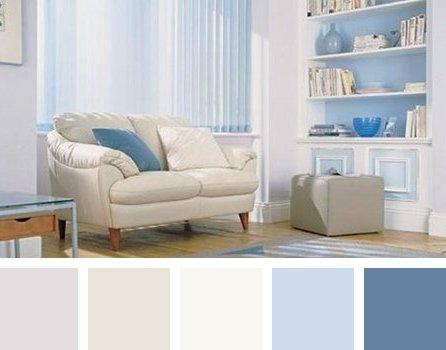 Combinaciones de colores pasteles - Colores azules para habitaciones ...