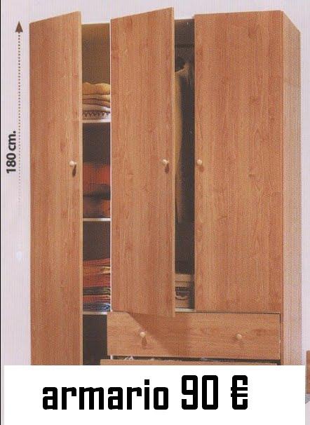 Venta mobiliario por traslado urgente armario 3 puertas cajones - Armarios tres puertas ...