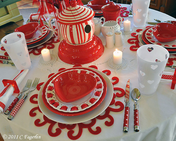 Proverbial pilgrimage valentine table settings - Valentine s day table setting ...