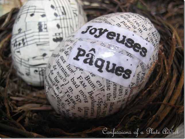 French Decoupage Eggs by Confessions of a Plate Addict