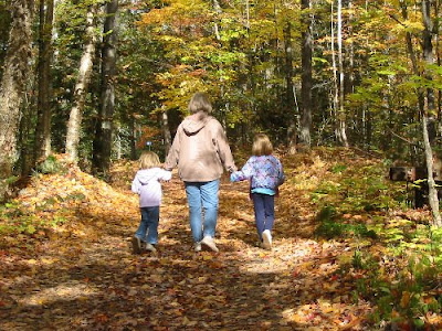 Mama, Rose & Joy go walking in the woods