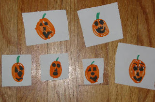 Photo of Five Choices of Jackolantern Faces