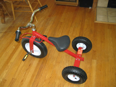 Big-kid trike assembled