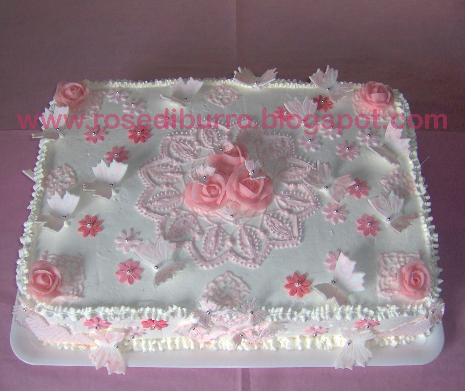 Fabuleux Rose di Burro: Torta Battesimo Bimba OF07